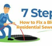 7 Steps on How to Fix a Blocked Residential Sewer Drain